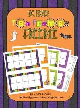 Halloween Ten Frame Templates  ComposingDecomposing Numbers