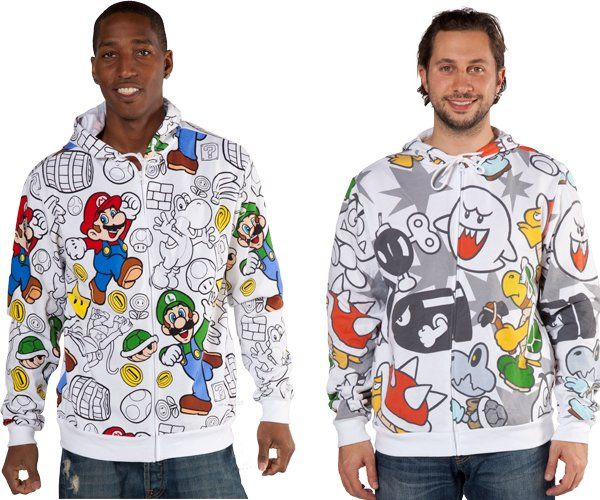 Mario Bros Movie Banner Mens Fashion Hooded Sweater Popular Style Design
