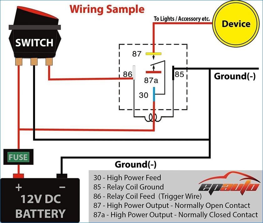 Best 12v Relay Wiring Diagram Pin At Switch 5 How To Wire A Electrical Diagram Circuit Diagram Automotive Electrical