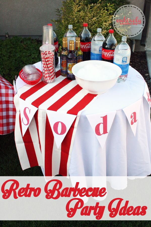How to create a red and white retro themed barbecue party complete ...