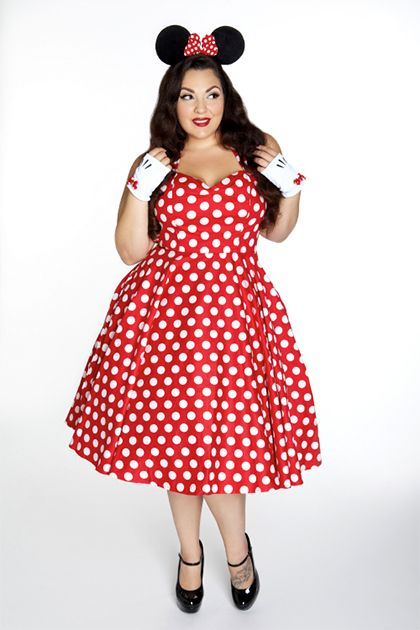 plus size halloween costume domino dollhouse minnie mouse ...