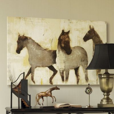 Modern cowboy painting cowboy inspired art i m loving patrick wright s horse paintings Horse design kitchen accessories