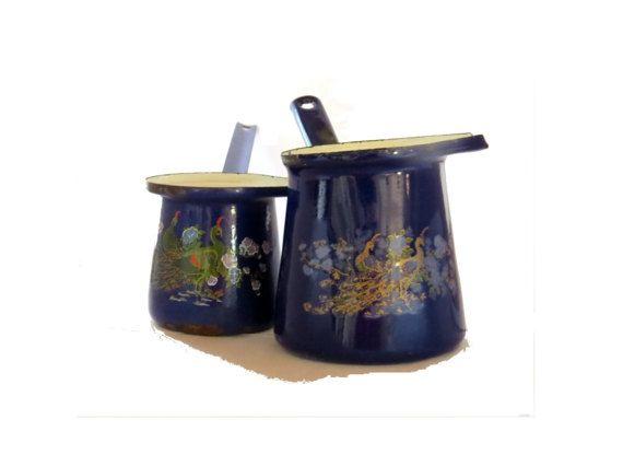 Vintage coffee set. Enammelware. Middle by Underlyingsimplicity