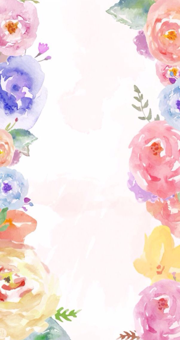 Cute Rose Watercolor Wallpaper Watercolor Floral Wallpaper