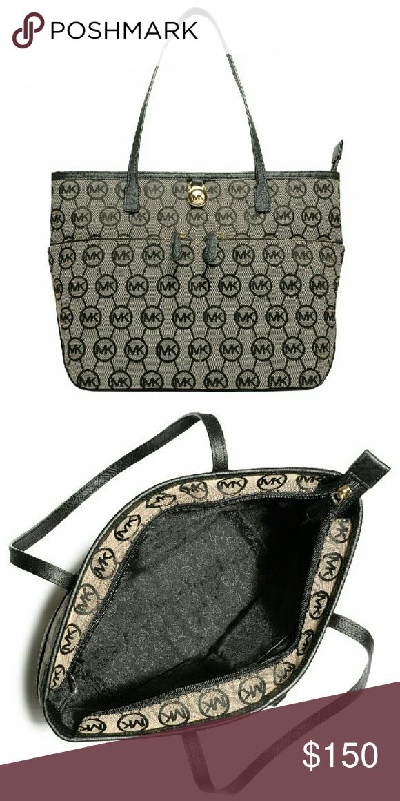 6cdf345353a0 7b1ee f4dff  ireland new michael kors logo medium tote handbag nwt  authentic michael 33fb6 befa0