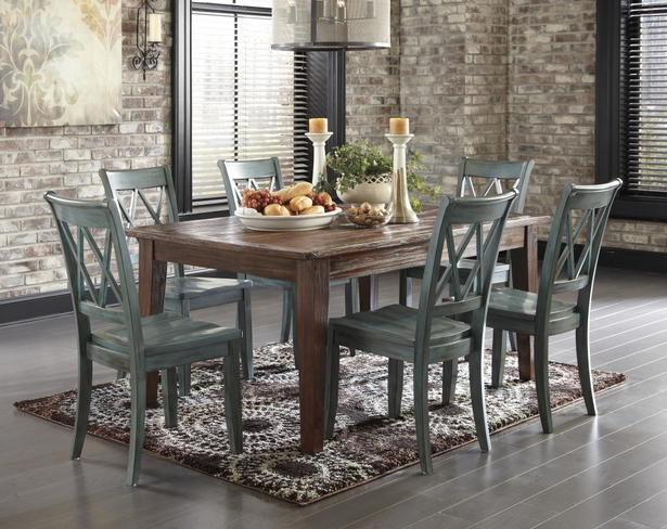 Rustic Farmhouse Dining Room Table Sets: Rustic Dining Room Table: Rustic (5pc Table And Side