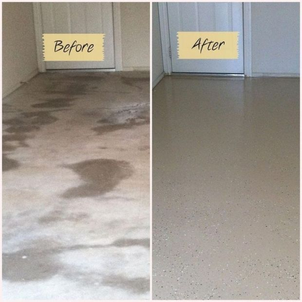 #garageupdates #Before #after #garage #floor Before And
