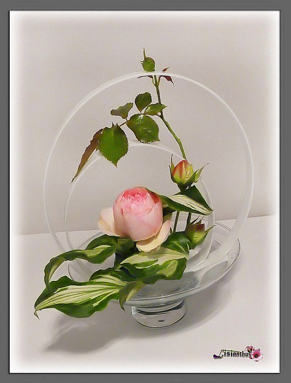 art floral bouquet cr ations florales de lisianthus pierre de pierre et roses. Black Bedroom Furniture Sets. Home Design Ideas