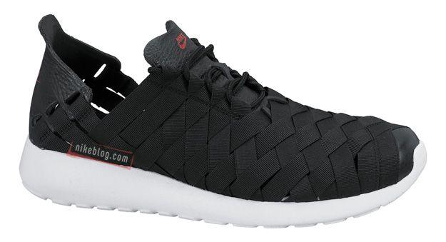 Nike Run Roshe Tissé Textile Noir Et Blanc