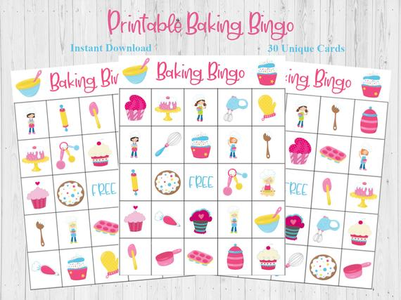 This Sweet Baking Bingo Game Is A Perfect Activity For A Baking