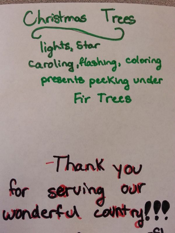 Cinquain poetry on Christmas cards for the troops. | Dashing through ...