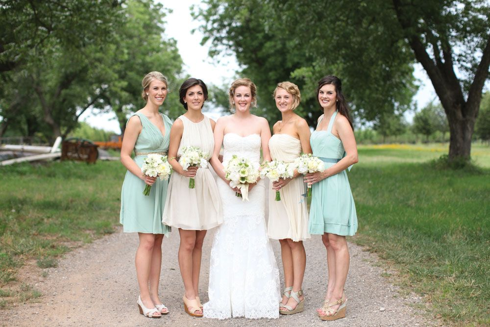 Vintage Blue Bridesmaid Dresses