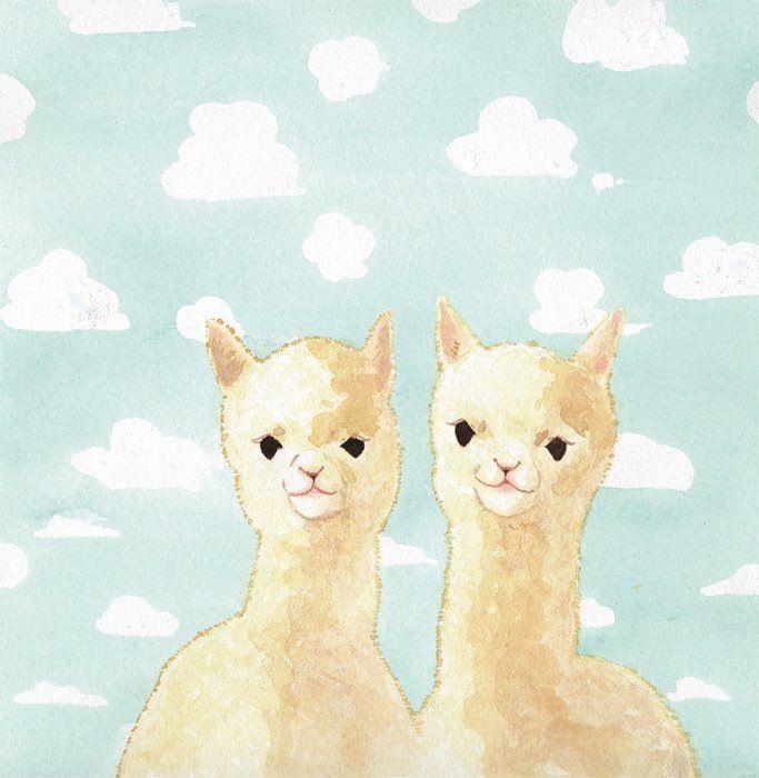 alpacas and little fluffy clouds! etsy.com/shop ...