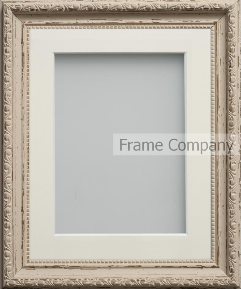 Vintage Cream 16x12 Frame With Ivory Mount Cut For Image Size 12x10
