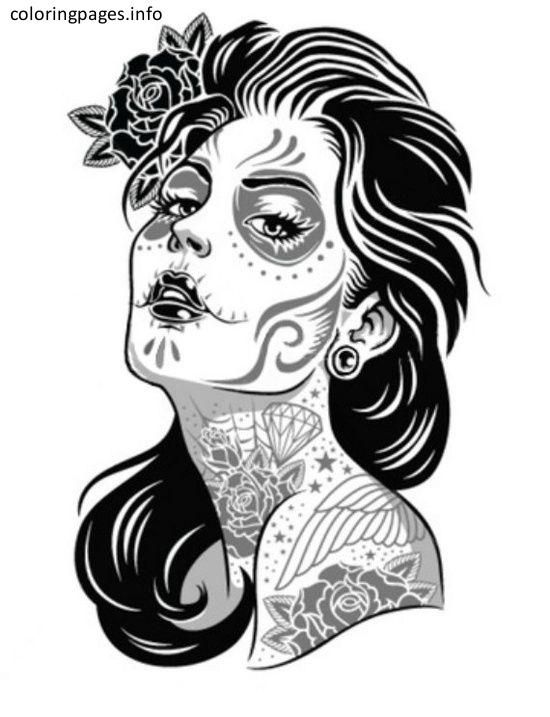 🎨 Sugar Skull Coloring Pages - Kizi Coloring Pages | 717x550