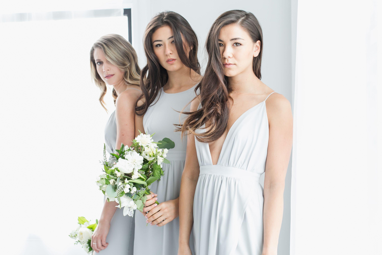 Park fifth co bridesmaids dresses dove grey styled with bridesmaids dresses dove grey styled with blossomandvine beautiful flower ombrellifo Choice Image