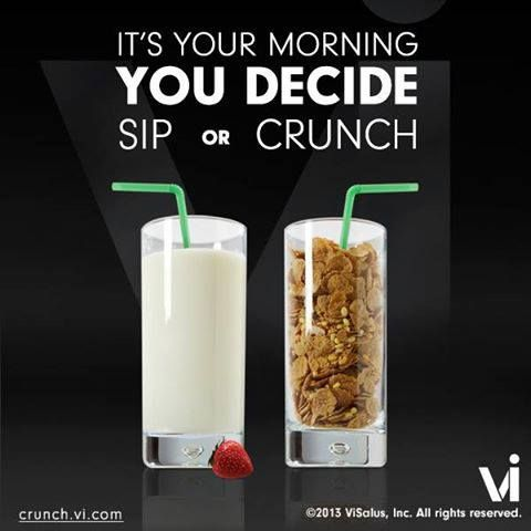 Would you rather CRUNCH your shake? Get FREE SHIPPING on the NEW Visalus cereals, only until Saturday! Use these to replace your shake anytime. Get our 2 week combo pack with the shake kit of your choice & try all 3 of them: Protein Super Cereal, Tri-Berry Crunch & Chocolate Macadamia Granola. www.angiebyvi.bodybyvi.com