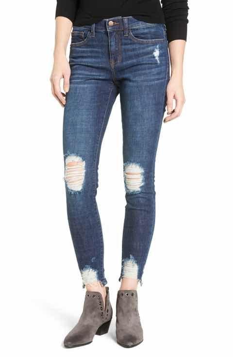 Sp black destroyed skinny jeans