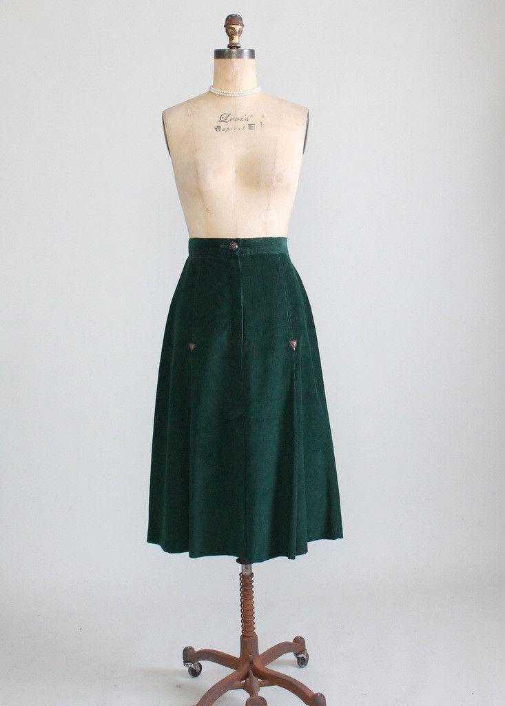 9599606fe1eeac Vintage 1970s Tomboy Cord Midi Skirt | Clothes