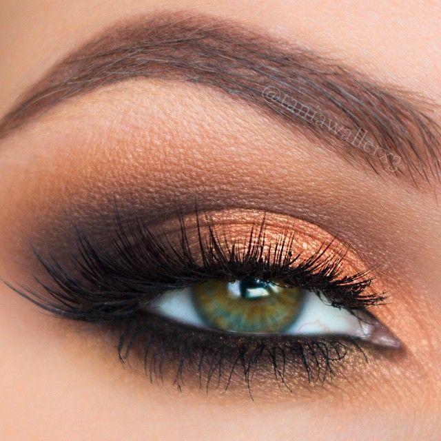 Smokey Peach Eye Makeup Cartooncreative