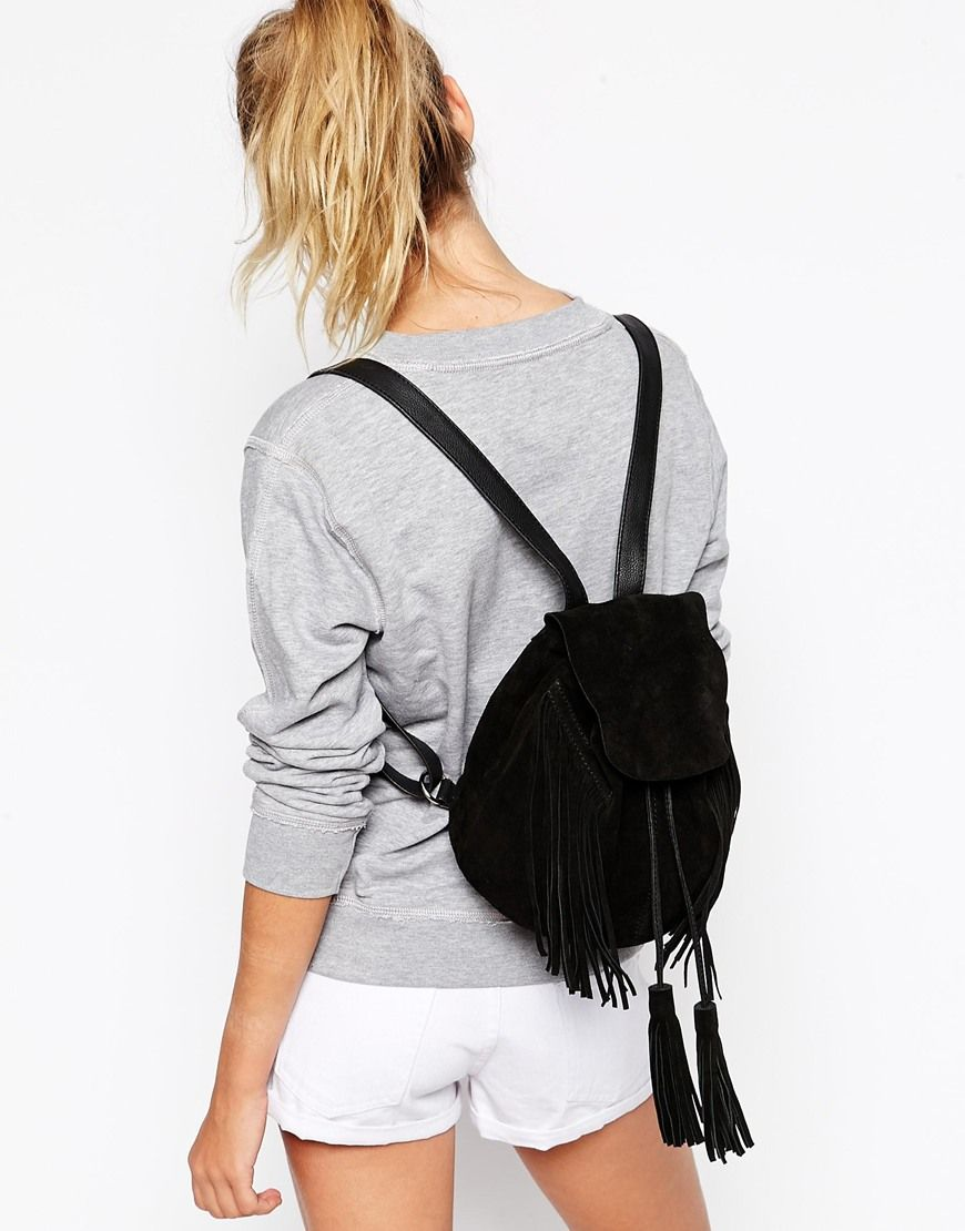 Mini Suede Festival Fringed Backpack | ASOS, Festivals and Minis