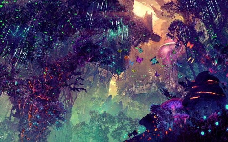 Digital Art Landscape City Glowing Science Fiction Fantasy Art Wallpapers Hd Desktop And Mobile Backgrounds Fantasy Art Art Art Wallpaper