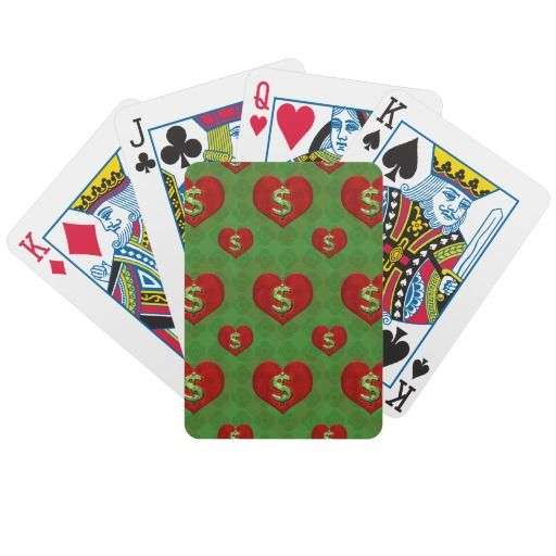 Love For Money Pattern Bicycle Playing Cards Finance Ambition