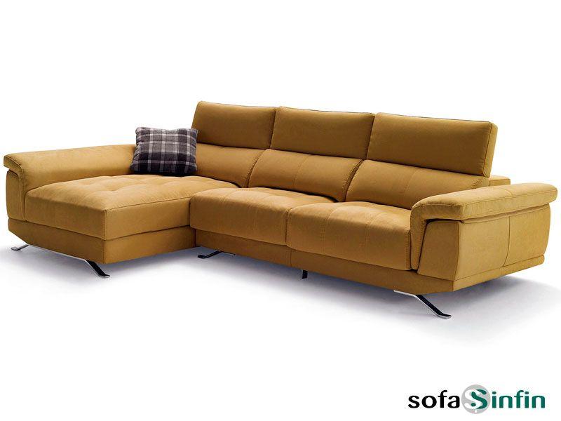 Sofá con chaise-longue modelo Monet fabricado por Divani Star en ...