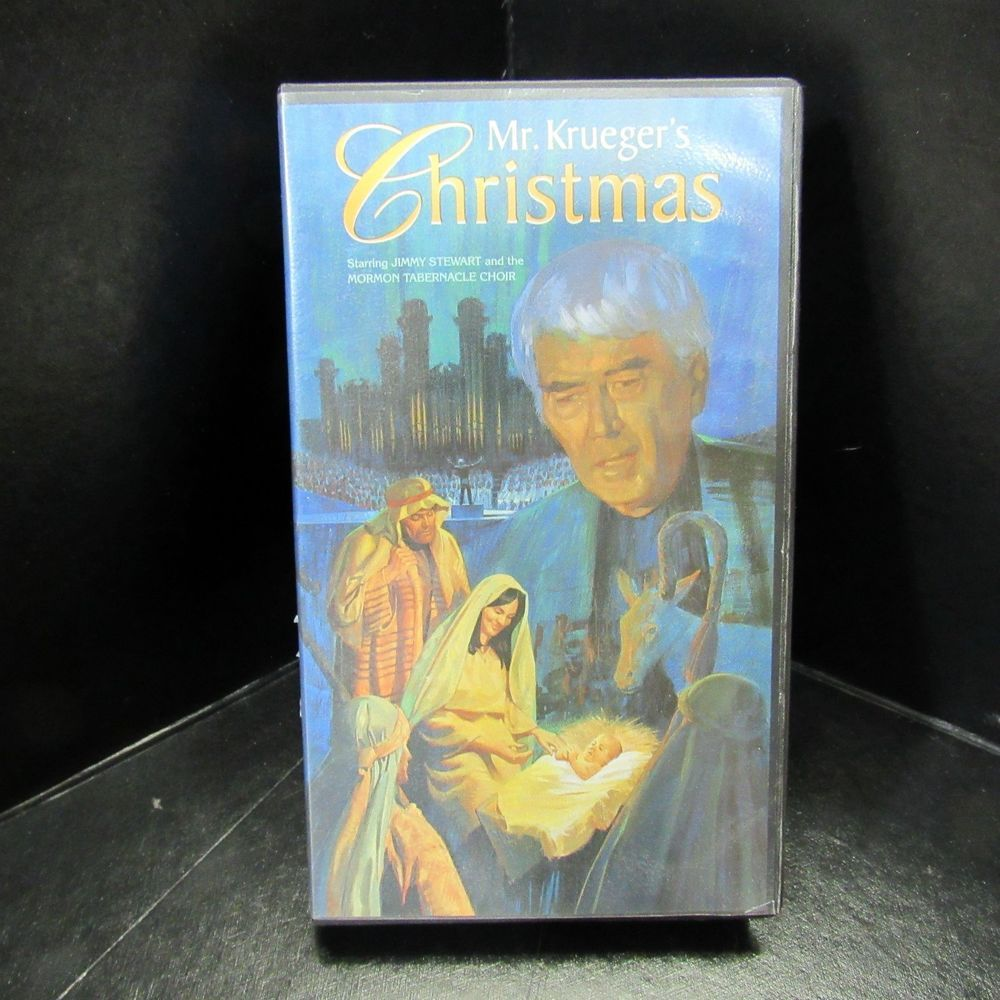 Mr. Kruegers Christmas VHS Jimmy Stewart Morman Tabernacle Choir ...