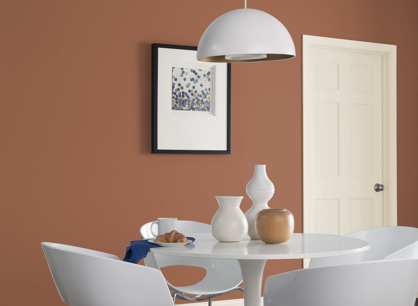 Dining room in clay pot dining rooms rooms by color color kitchen Colors to paint rooms