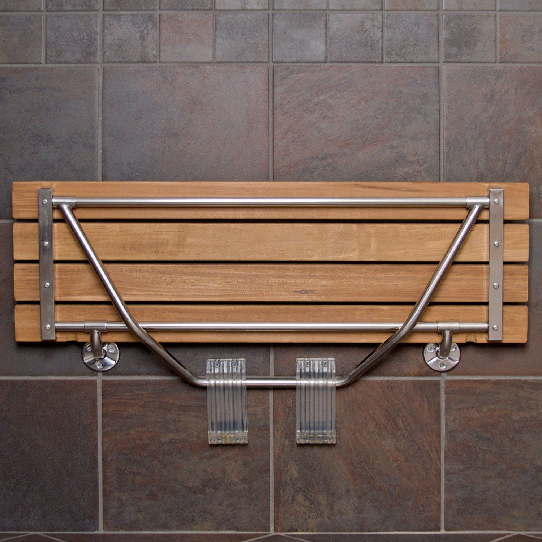Furniture Teak Folding Shower Seat Teak Shower Bench Teak