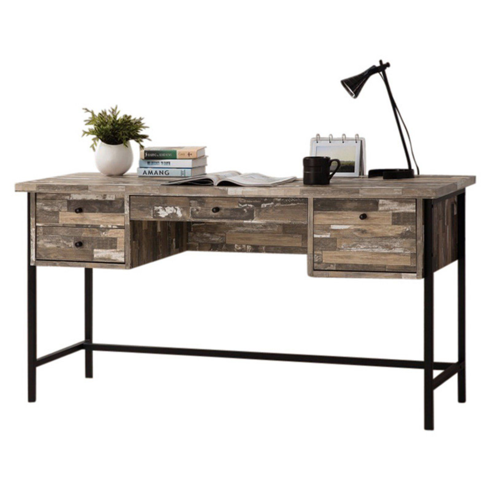 Benzara Rustic Wood Writing Desk With Drawers Writing Desk With Drawers Wood Writing Desk Writing Desk