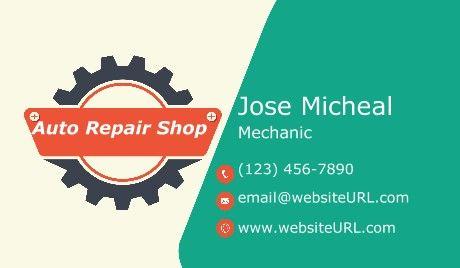 Mechanic Business Card Mechanic Car Industry Business Card