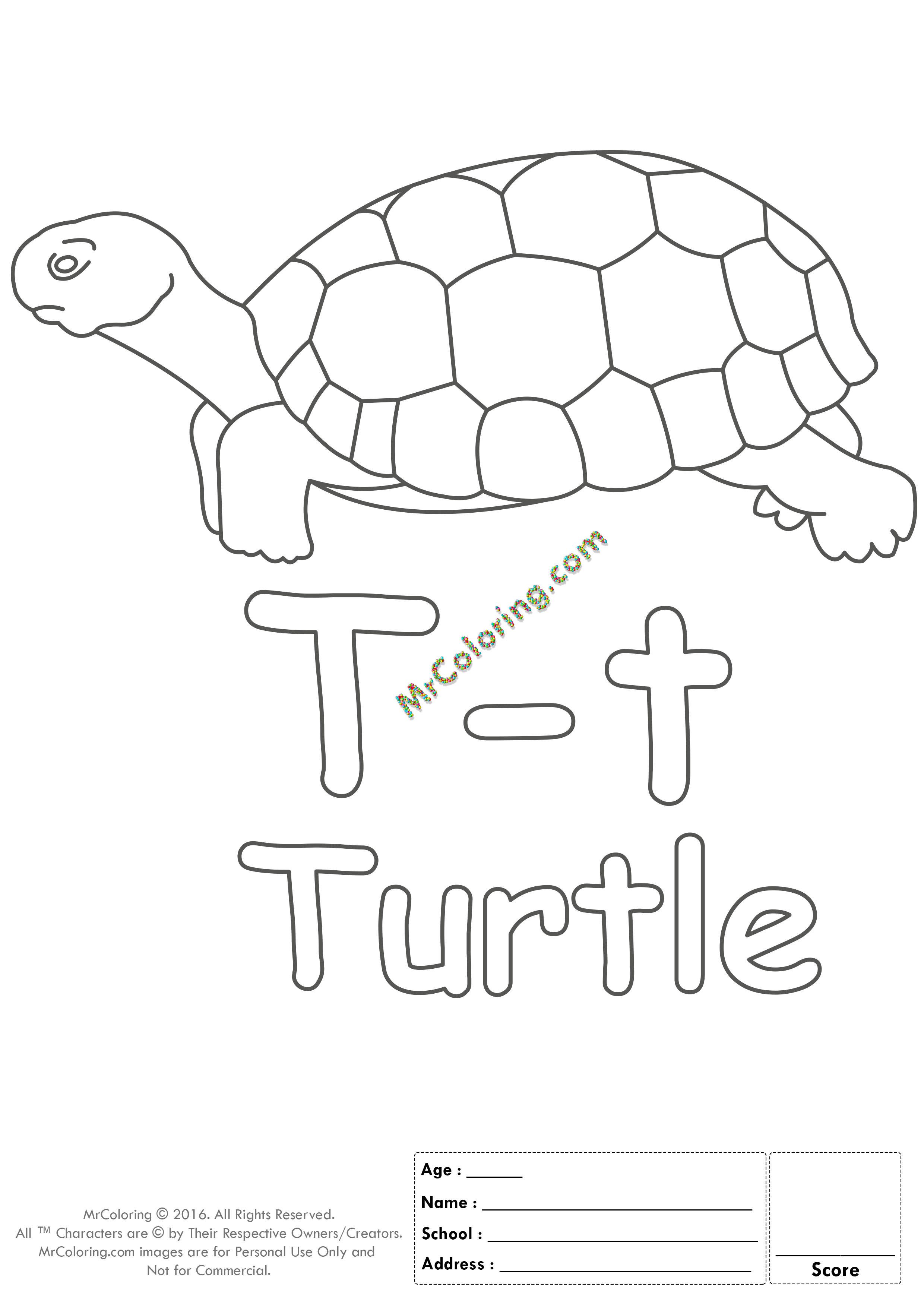 Alphabet Letter Tt Printable Coloring Pages Coloring