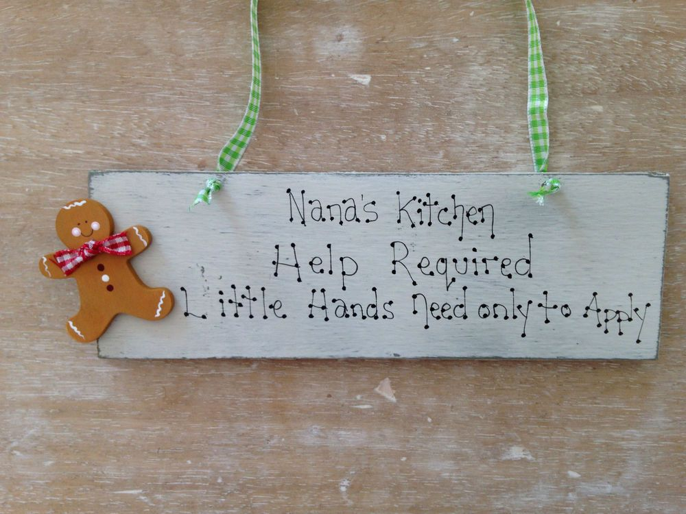 Details about nannana grandma wooden gingerbread man