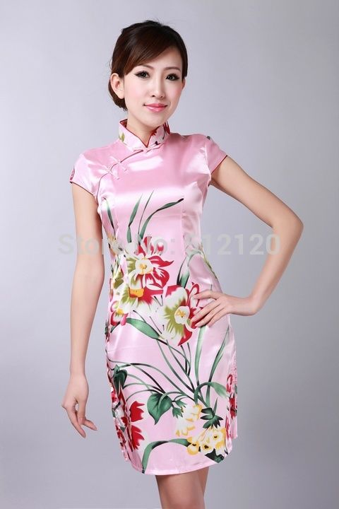 Free Shipping new arrival Vintage dress Chinese Women\'s Silk Rayou ...