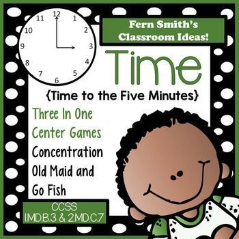 Time To the Five Minutes Center Games   Teacher Favorites on