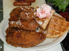 Metro Diner In Jacksonville We Had The Most Amazing Breakfast Of Pound Cake French Toast Food Metro Diner Chicken And Waffles