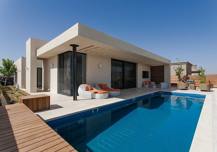 Located In Israel, This Modern Single-Storey Private Residence Was