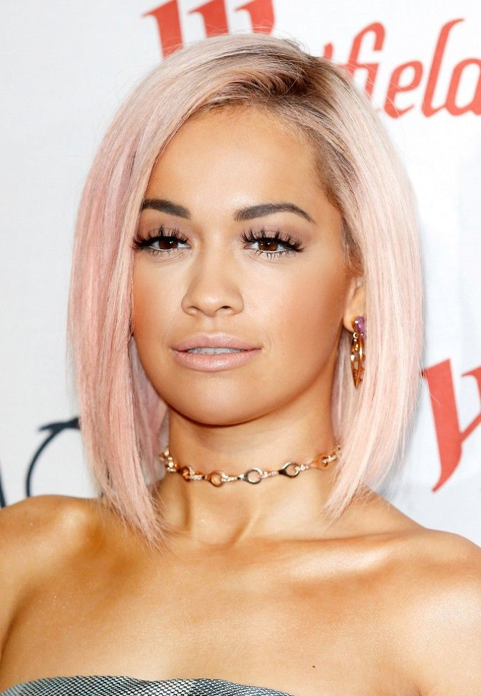 Get Rita Ora's hair color by mixing in a few drops of Cleo Rose in a jar of Pastel-izer!