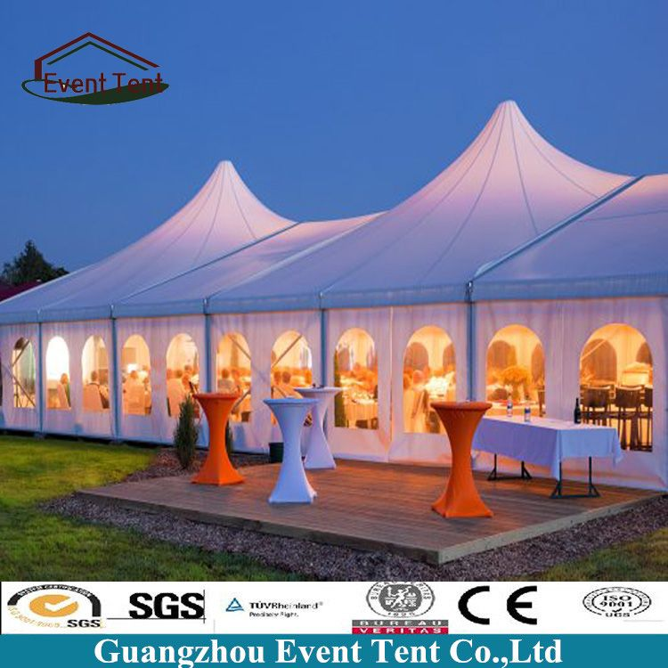 Latest Design Glass Wall Big Luxury Outdoor White Wedding Party Tent 40x100