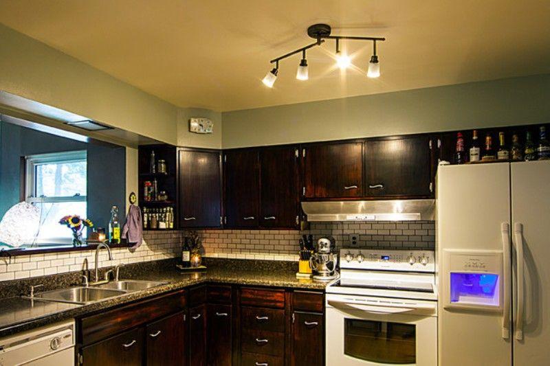 Kitchen Track Lighting Home Interior Design Ideas Track Lighting Kitchen Industrial Kitchen Design Bright Kitchen Lighting