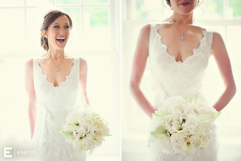 white bouquet, calla lilies, peony bouquet, happy bride, lace bridal ...