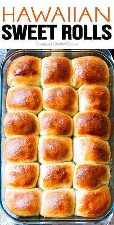 doce, amanteigado, os rolinhos doces havaianos são super macios e fofos com infusão de pinho ... - #breakfastslidershawaiianrolls