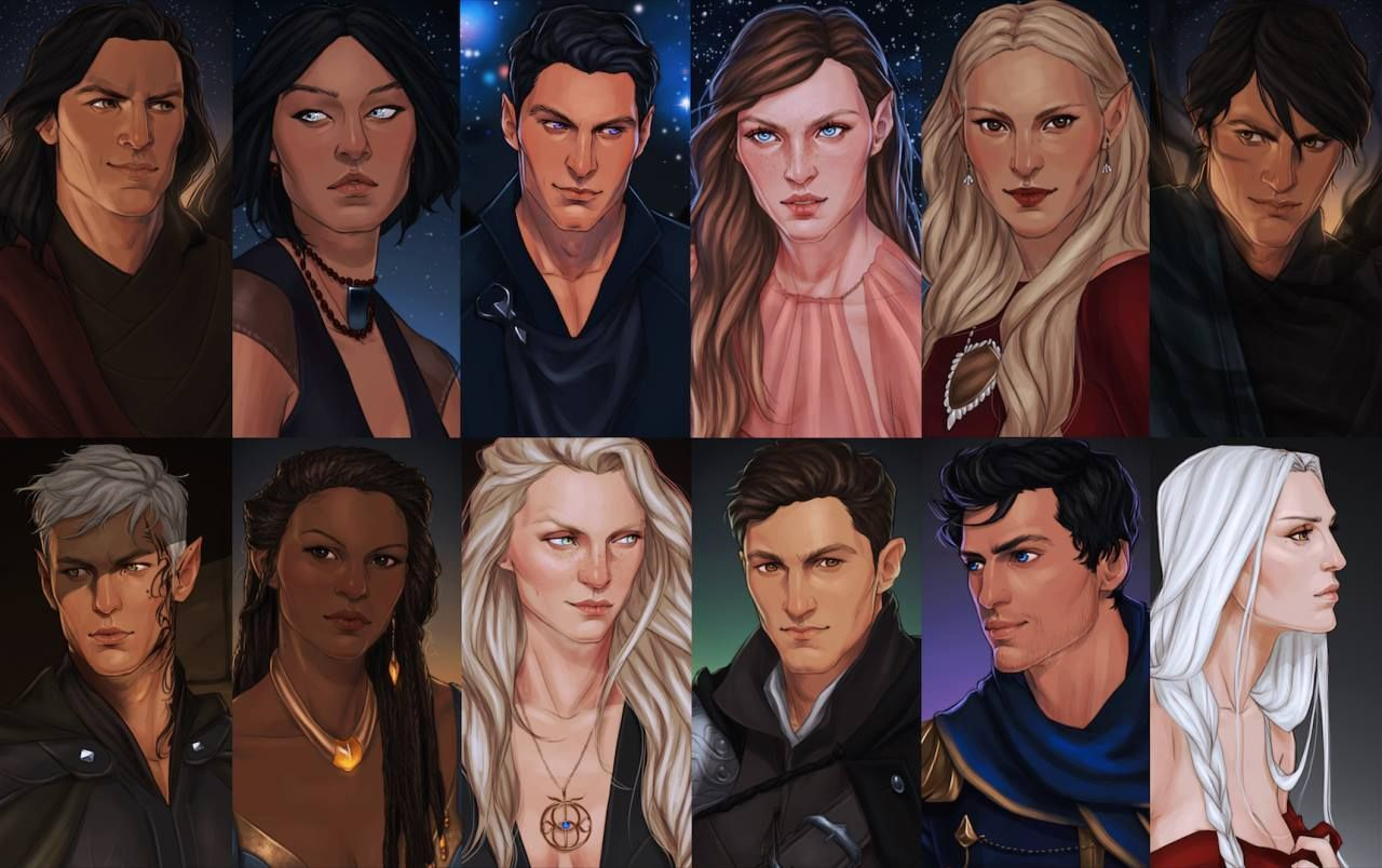 The Throne Of Glass And A Court Of Thorn And Roses Main Characters