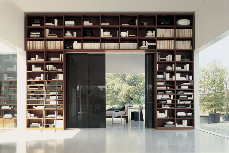 Molteni C Shelving With Sliding Doors Used To Divide A Large Room Into Two Small Rooms I Want