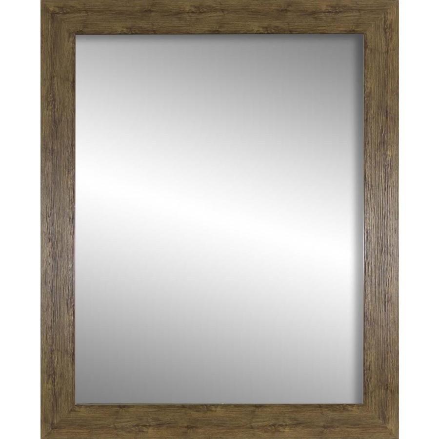 33 In L X 27 In W Farmhouse Brown Framed Wall Mirror Lowes Com In 2020 Frames On Wall Mirror Wall Framed Mirror Wall