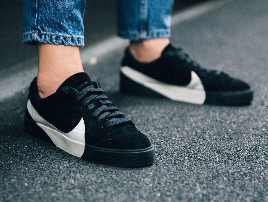 Nike Wmns Blazer City Low LX Black Suede  nikeblazer  sneakers  baskets 89da89474