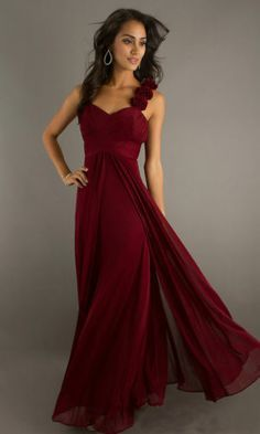 Dark Red Bridesmaid Dresses | Color schemes | Pinterest | Длинные ...