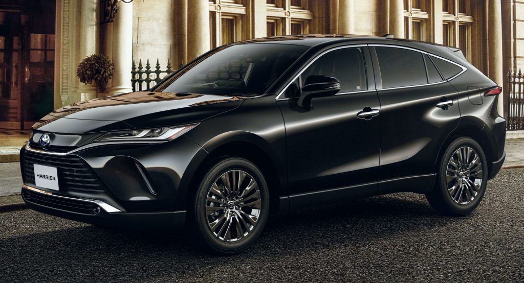 Japans New Toyota Harrier Bows With 2 0l Dynamic Force 2 5l Hybrid Powertrains Toyota Harrier Toyota New Car Harrier